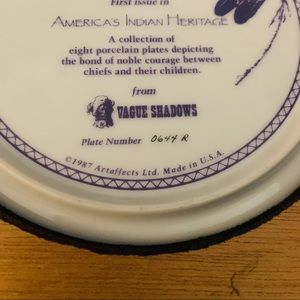 Vintage Accents - the cheyenne nation by perillo 8 1/2 inch plate